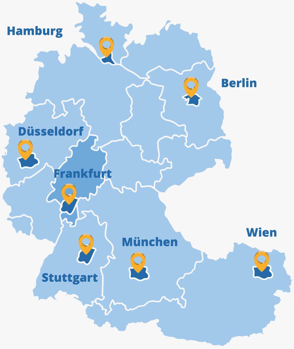 Der Elithair Standort Frankfurt in der DACH-Region