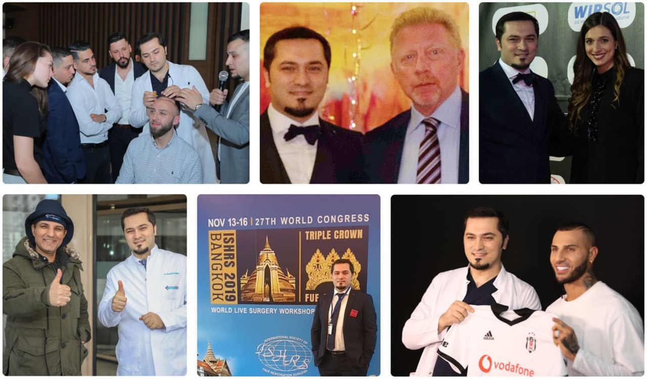 un collage del dr Balwi con delle persone importanti