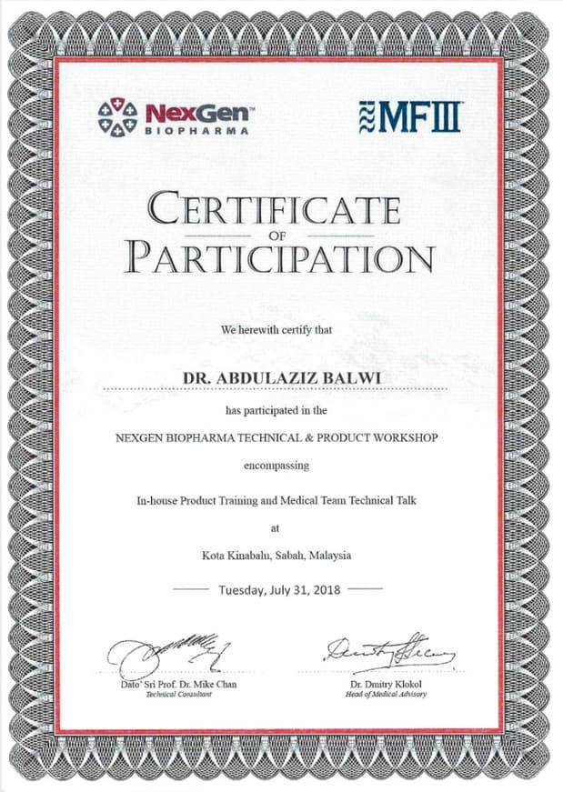 Certificazione della partecipazione di Elithair alla conferenza Nexgen Biopharma